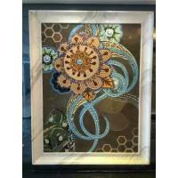 hand made flower tile crystal glass mosaic tile wall murals tiles crystal patterns backsplash puzzle tiles GRST012