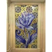 backsplash puzzle tiles hand made flower tile crystal glass mosaic tile wall murals tiles crystal patterns GRST015