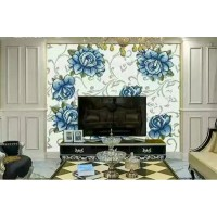 backsplash puzzle tiles hand made blue flower tile crystal glass mosaic tile wall murals tiles crystal patterns GRST023
