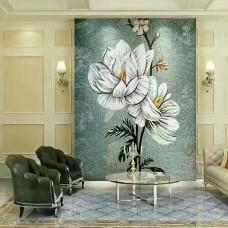 backsplash puzzle tiles hand made white flower tile crystal glass mosaic tile wall murals tiles crystal patterns GRST024