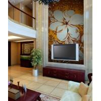 backsplash puzzle tiles hand made white flower tile crystal glass mosaic tile wall murals tiles crystal patterns GRST027