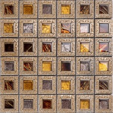 Crystal glass tiles for kitchen and bathroom brown mosaic glass block vintage TV background backsplash wall tile brick KLGT008