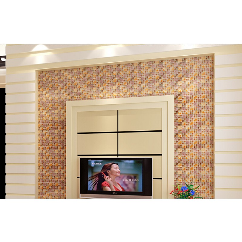 Yellow Gl Mosaic Tile Plated Hand Painted Art Design Wall Hall Backsplashes Kitchen Bathroom Decorative Klgtj03