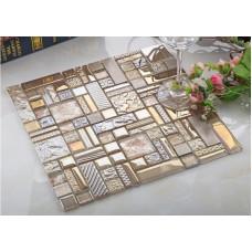 crystal glass mosaic tile stainless stell tiles wall backsplashes bathroom tile deco KLGT408