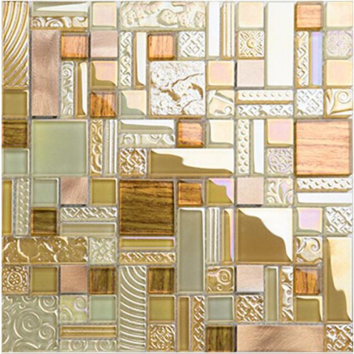 NEW ARRIVAL Crystal Glass Mosaic Tile Stainless Steel Tiles Wall Backsplashes Bathroom Tile