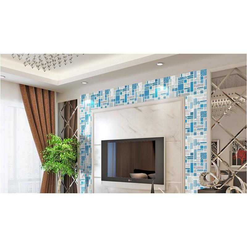 deluxe glass metal mosaic sheets brushed aluminum backsplash blue and silver decorative crystal glass tile for deluxe glass metal mosaic sheets brushed aluminum backsplash glass      rh   bravotti com