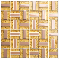 Gold crystal glass tiles for kitchen and bathroom metal & glass blend mosaic sheets stainless steel backsplash wall tiles KLGT401