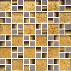 Gold crystal glass tile backsplash for TV background wall decor silver plated glass mosaic tiles for kitchen and bathroom KLG4032