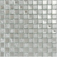 Silver mirror glass diamond crystal tile square wall backsplash tiles bathroom washroom wall mirrored tile deco KLGT4017