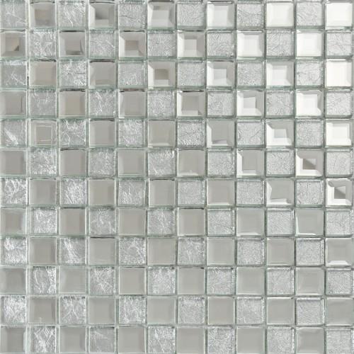 Silver mirror glass diamond crystal tile square wall backsplash tiles bathroom washroom wall mirrored tile deco KLGT4017