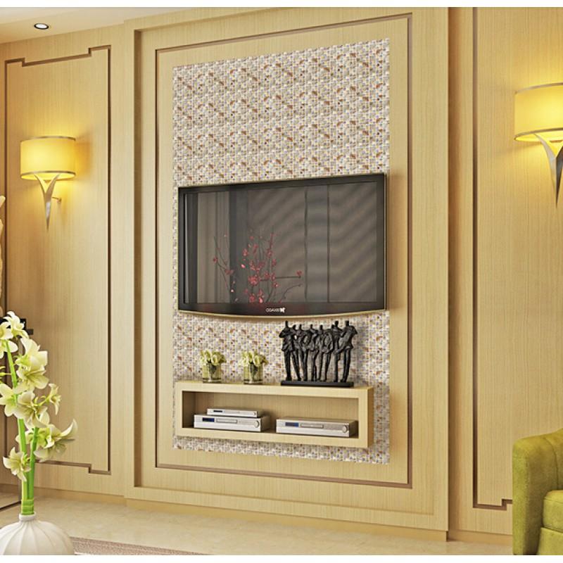 Natural Stone Mosaci Tile Wall Art Gold Crystal Gl Backsplash Tiles For Kitchen And Bathroom Shower