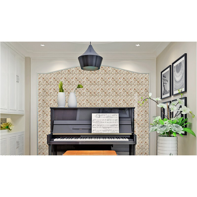 ... Natural Stone Mosaci Tile Wall Art Gold Crystal Glass Backsplash Tiles  For Kitchen And Bathroom Shower