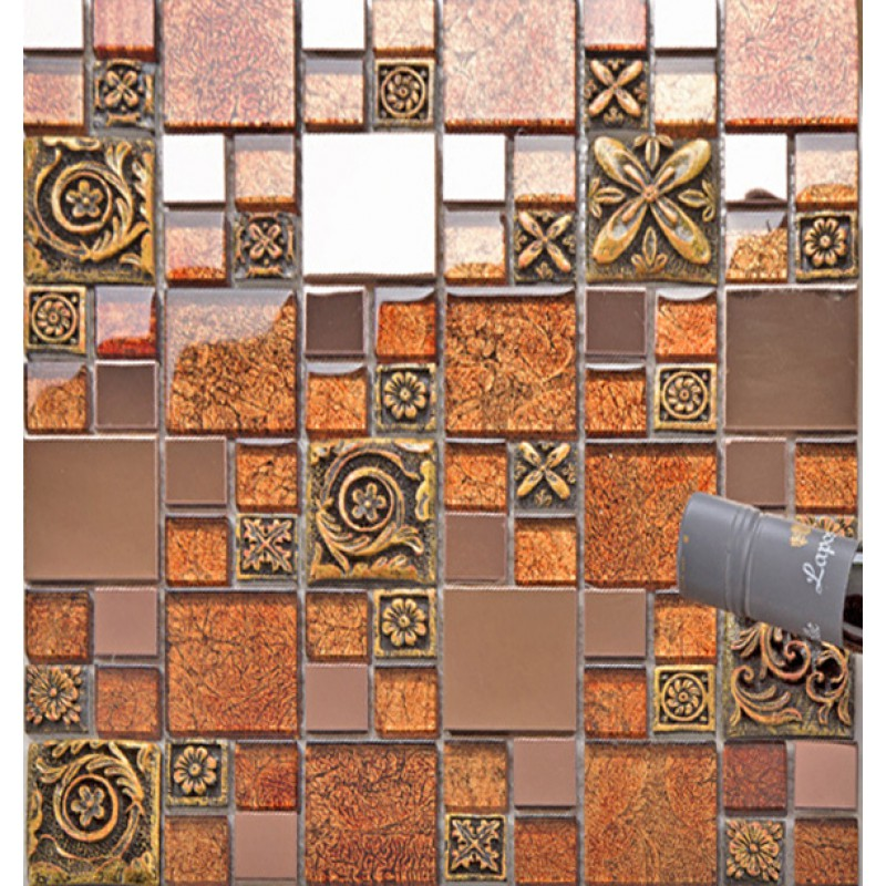 metal wall tiles for kitchen 24 amazing brown mosaic tiles bathroom eyagci 9156