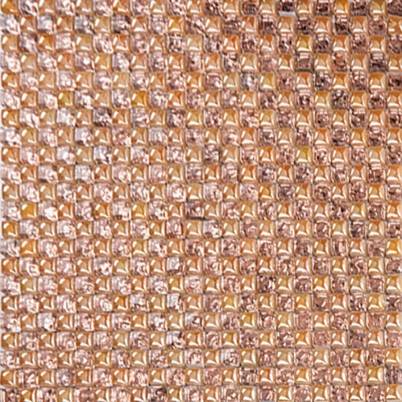 Glass wall tiles backsplash ideas bathroom brown mosaic bubble ...