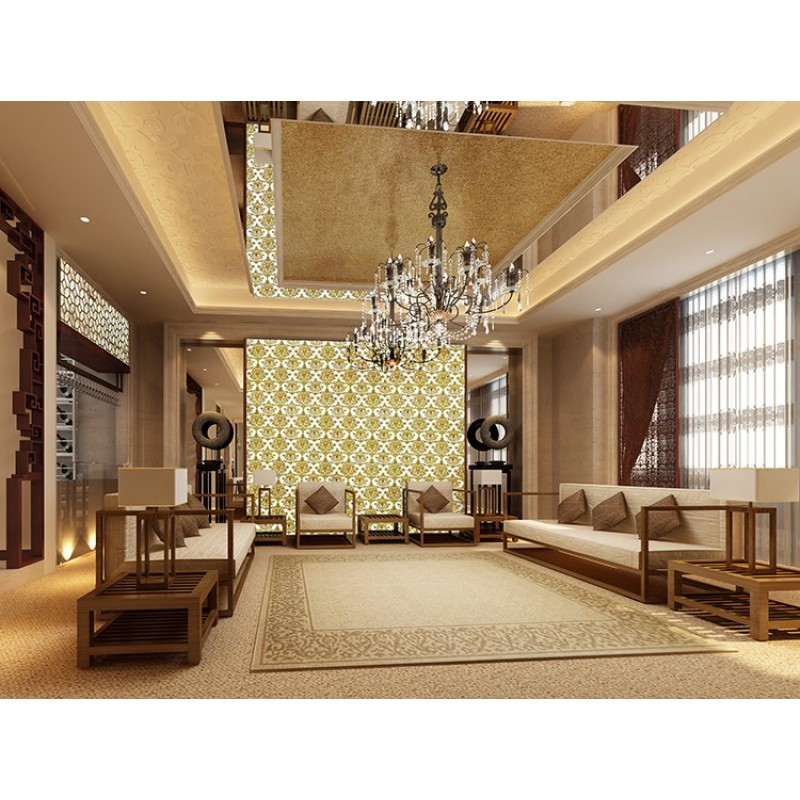 Gold glass tile murals wall stickers plated crystal ...
