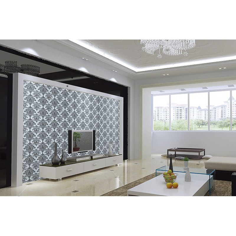 Silver glass mosaic tile wall murals backsplash plated Mosaic tile wall designs