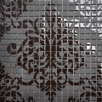 Black glass tile murals wall stickers plated crystal backsplash ideas bathroom decor designs puzzle mosaic collages tiles sheets TMF059