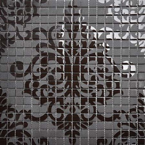 Brown Glass Tile Murals Wall Stickers Plated Crystal