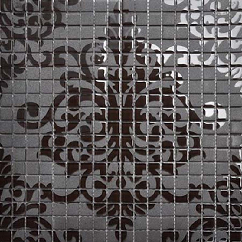 Black glass tile murals wall stickers plated crystal backsplash