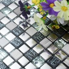 stone glass tile backsplash kitchen wall silver bathroom floor tiles sticker H15 decor mesh patterns designs crystal glass mosaics