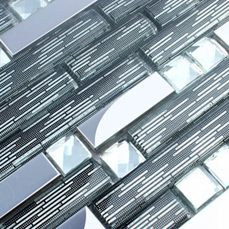 15 Stainless Steel Backsplash Metal Glass Mosaic Cheap Crystal Diamond Tiles Mgt32 Interlocking Bathroom Shower Tile Designs