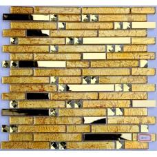 stainless steel backsplash gold glass mosaic diamond tile kitchen back splash interlocking H5041 bathroom shower designs metal crystal glass tiles