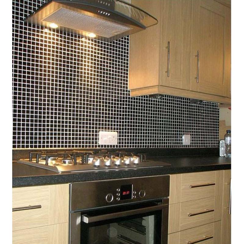 Mosaic Tile black glazed Ceramic Tiles Kitchen Backsplash Tiles ...