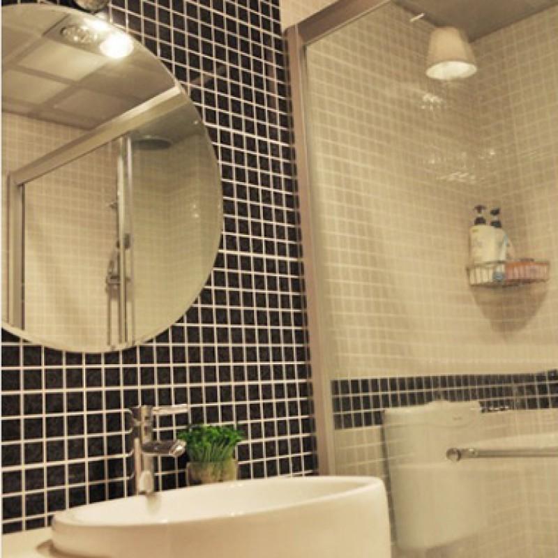 Glazed Porcelain Tile Black Wall Tiles Kitchen Back Splash Ceramic Floor Hb 660 Bathroom Mirror Backsplash Shower Stickers