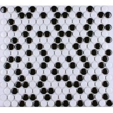 Kitchen porcelain tile penny round mosaic ceramic tiles black & white porcelain wall tile backsplash HB-M055 shower floor tiles