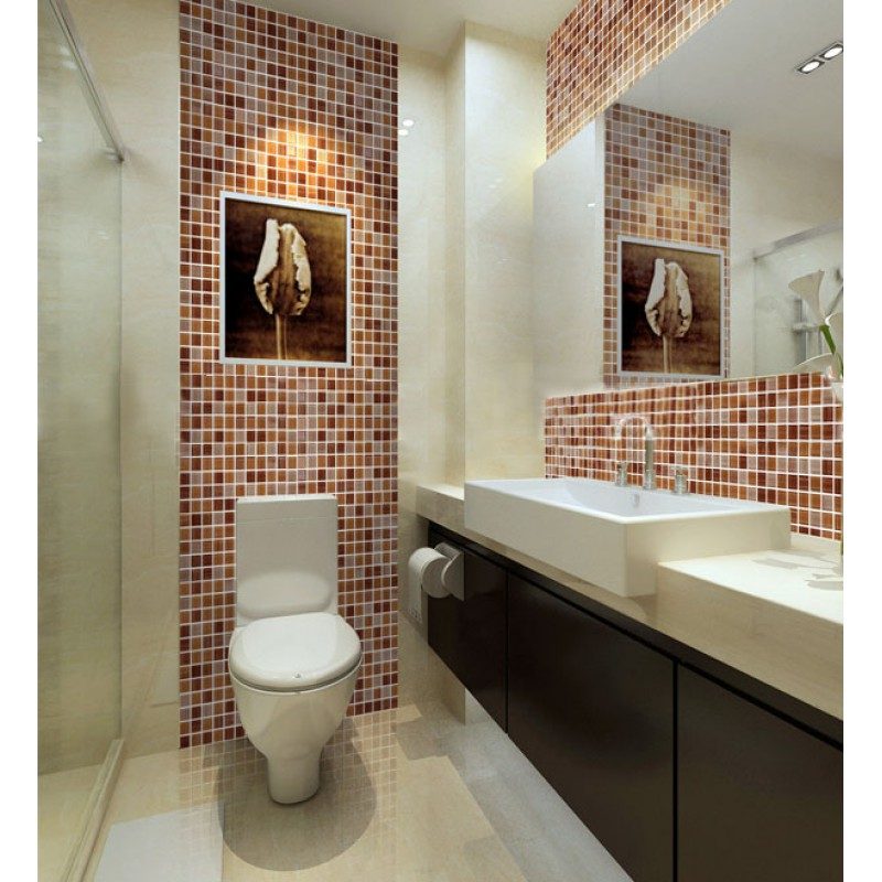 Mosaic Bathroom Tile Ideas: Crystal Glass Mosaic Tile Sheet Wall Stickers Kitchen