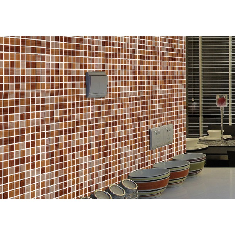 Crystal Glass Mosaic Tile Sheet Wall Stickers Kitchen Backsplash ...