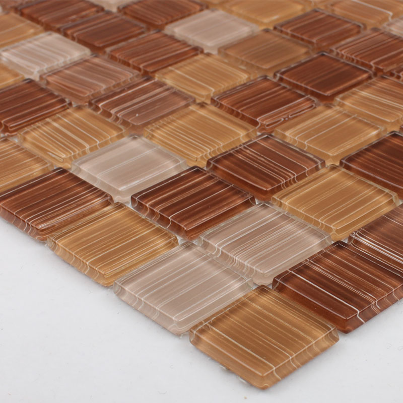 Backsplash Tile Sheets: Crystal Glass Mosaic Tile Sheet Wall Stickers Kitchen