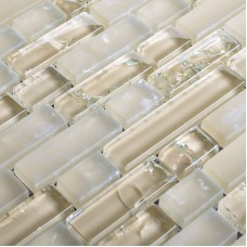 Frosted glass backsplash in kitchen yellow cracked crystal glass mosaic tile sheets interlocking shower wall tiles design CGT081