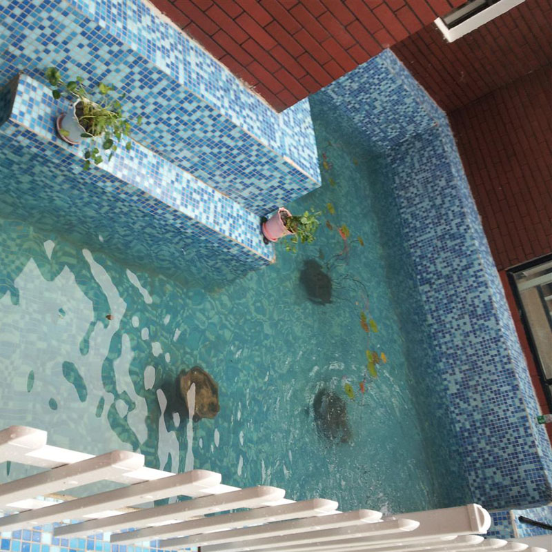 Vitreous Glass Mosaic Wall Tiles Blue Mosaic Crystal Glass Tile HC 468  Swimming Pool Floor Tiles Kitchen Backsplash Mosaics