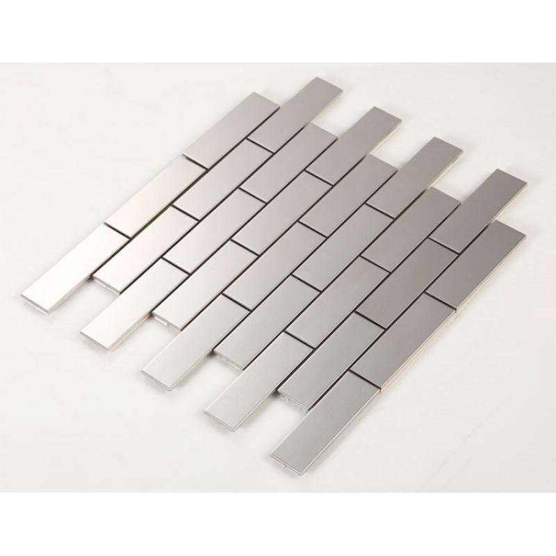 mosaic subway tile grey Metal kitchen wall tiles HC1 Stainless ...