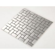 stainless steel backsplash cheap kitchen back splash modern fashion silver metal mosaic sheets HC4 bathroom wall tiles shower floor mirror sticker