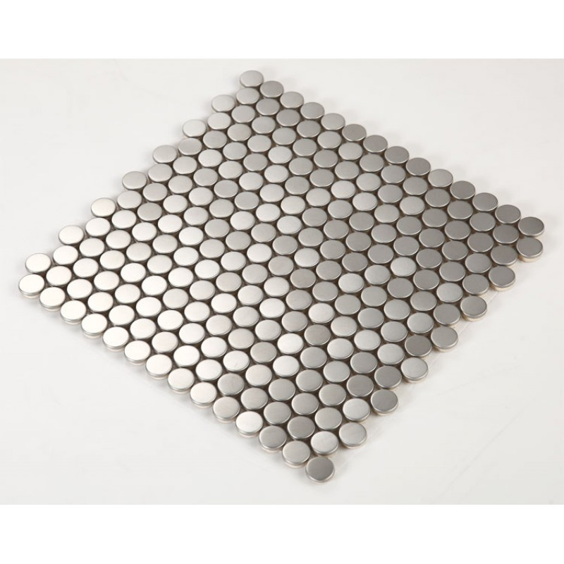 Penny Round Backsplash: Stainless Steel Backsplash Penny Round Tile Modern Fashion