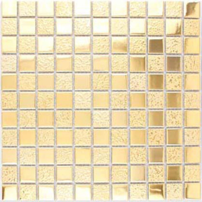 Gold Porcelain Tile Square 1 Glaze Ceramic Mosaic Plating Craftsman