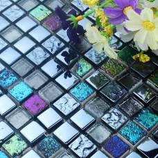 stone glass tile backsplash stained kitchen wall sticker plated vitreous mosaic iridescent crystal glass mosaics HD15 bathroom 3d floor tiles
