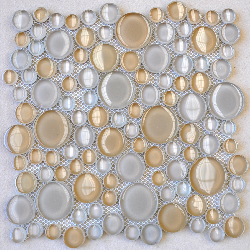 Penny Round Glass Tile Backsplash Ideas Bathroom Floor