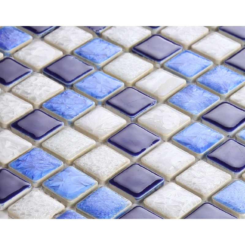 Glazed Porcelain Tile Backsplash Kitchen Bathroom Wall Tile Stickers AB30 1  Inch Porcelain Mosaic Floor Tiles Ceramic ...