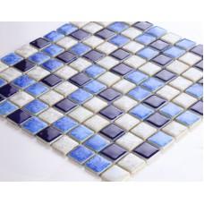 Blue and white porcelain tile mosaic tiles glazed ceramic tile bathroom wall decor kitchen backsplash free-shipping glazed porcelain tiles ceramic mosaics wall tiles PDFT020