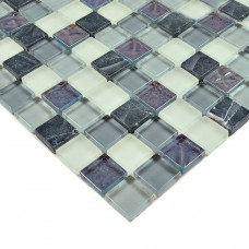 Stone Glass Mosaic Tiles Crystal Glass Tile Kitchen Backsplash Tile Bathroom Wall stickers natural Marble Floor Tiles HM0013