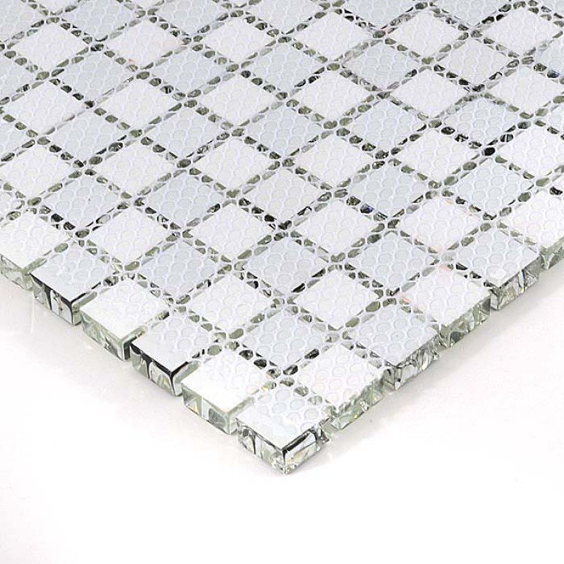 Glass Mosaic Tile black and white Crystal Wall Tiles ice Crack ...