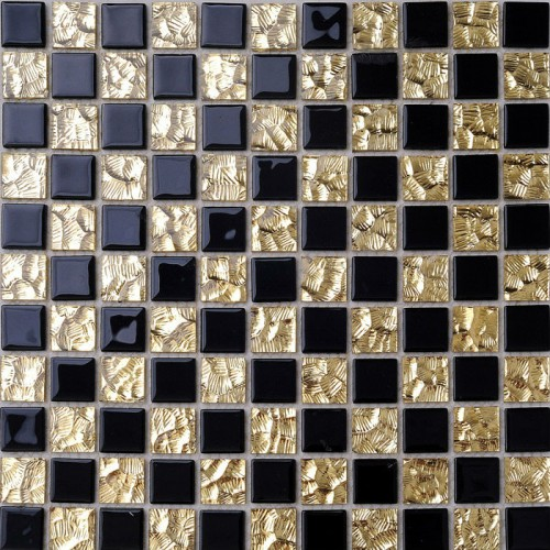 Crystal Glass Backsplash Kitchen Tile Mosaic Art Mirrored Wall Stickers Bathroom Shower Floor Mirror Tiles Sheet Decor HM016