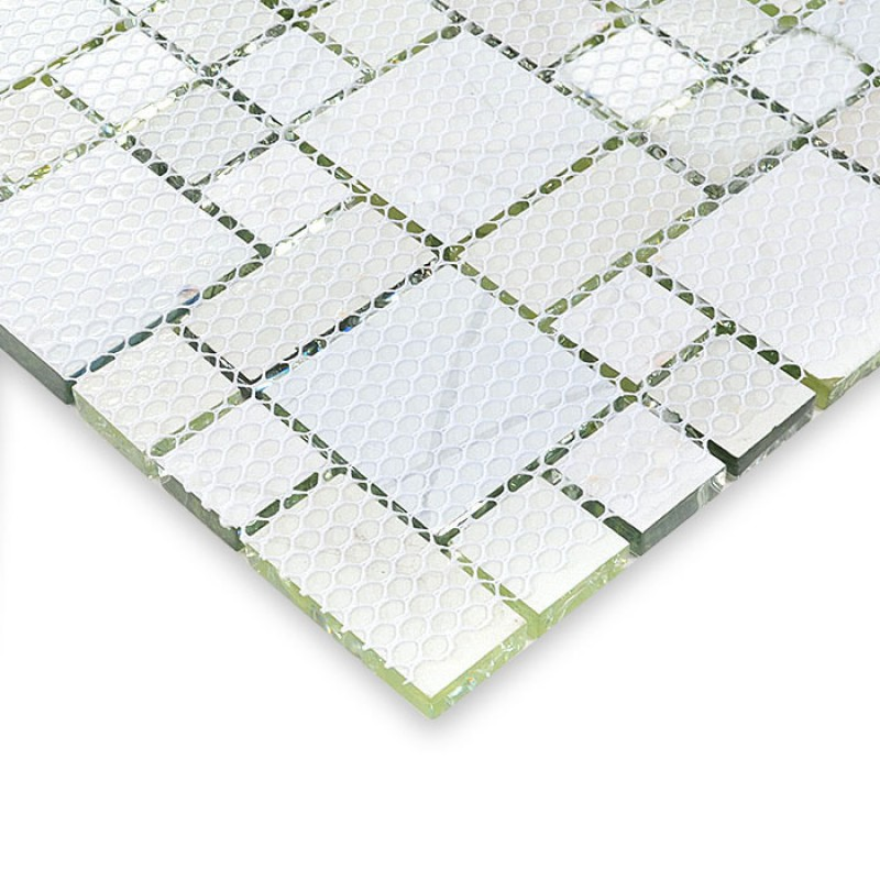 Crackle Glass Mosaic Tile Glossy Mosaic Glass Tiles Ice