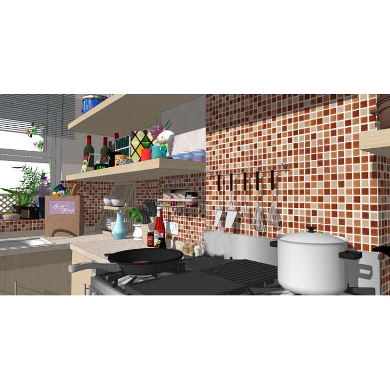 Cyrstal Glass Mosaic Tile Backsplash Kitchen Floor Sticker Glass Liner Wall Tiles Bathroom Mosaics Art Hp91