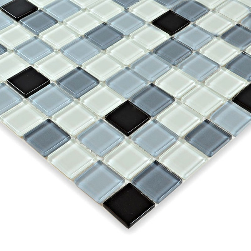 Glass mosaic tile sheets crystal glass swimming pool tiles for Swimming pool wall tiles