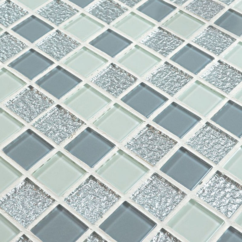 Glass Mosaic Tile Sheets Crystal Swimming Pool Tiles Bathroom Floor Sticker Kitchen Liner Wall Backsplash Hs0022