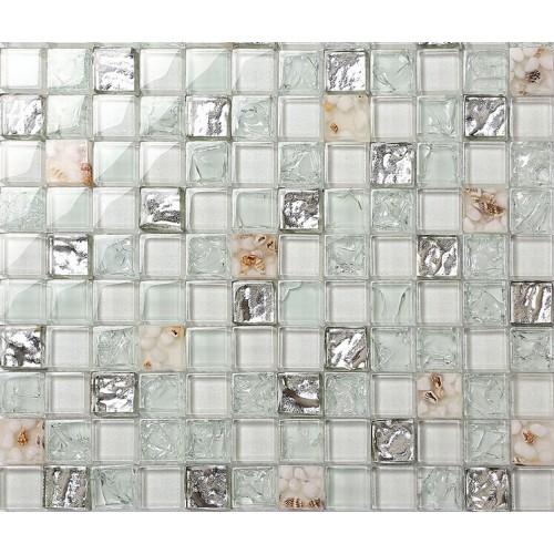 backsplash tiles for kitchen and bathroom glossy glass mosaics 8mm